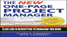 [Read PDF] The New One-Page Project Manager: Communicate and Manage Any Project With A Single