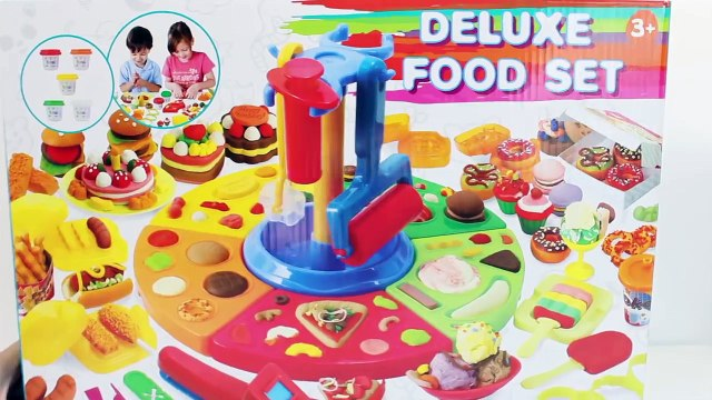Play Doh Deluxe Food set Burger cupcakes salad