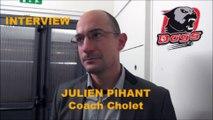 HH Interview 2016-10-15 Julien Pihant Coach des Dogs de Cholet - D1 - Clermont VS Cholet