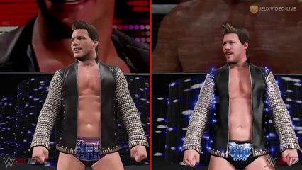 Chris Jericho (Y2J) : Comparaison WWE 2K17 vs WWE 2K16 de WWE 2K17