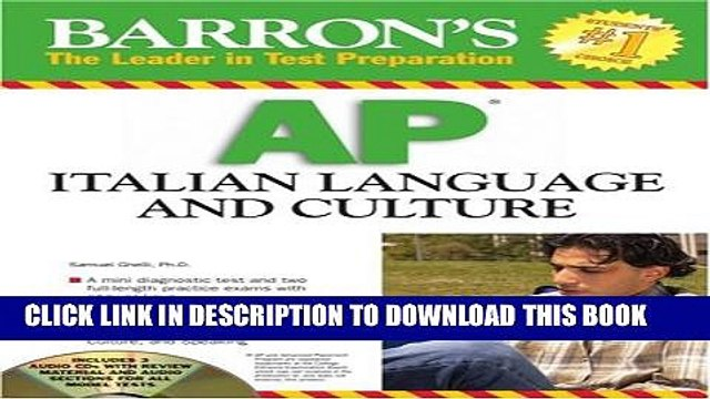 [PDF] Barron s AP Italian Language and Culture: with Audio CDs Popular Online