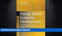 READ BOOK  Energy-Based Economic Development: How Clean Energy can Drive Development and