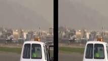 Iran air Boeing 727 crash lands with stuck nose gear (plane crash)