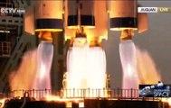 Création de la station spatiale chinoise : décollage de la fusée et des astronautes