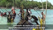 Indonésie: huit morts dans l'effondrement d'un pont près de Bali