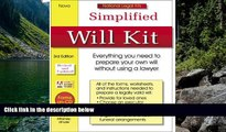 Deals in Books  Simplified Will Kit: National Legal Kit Series (Simplified Will Kit (W/CD))