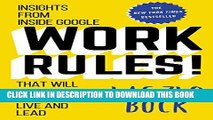 [PDF] Work Rules!: Insights from Inside Google That Will Transform How You Live and Lead Full