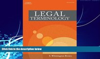 Books to Read  Bundle: Legal Terminology + WebTutor(TM) on WebCT(TM) Printed Access Card  Full