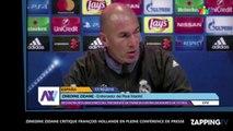 Zinédine Zidane critique François Hollande en pleine conférence de presse (Vidéo)
