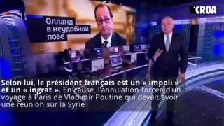 François Hollande insulté à la télévision russe