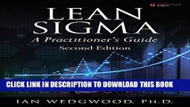 [PDF] Lean Sigma--A Practitioner s Guide (2nd Edition) Popular Collection