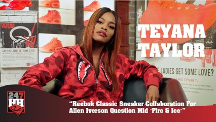 Teyana Taylor - Reebok Classic Sneaker Collab For Allen Iverson Question Mid (247HH Exclusive) (247HH Exclusive)