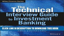 [PDF] FREE The Technical Interview Guide to Investment Banking, + Website (Wiley Finance)