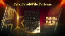 Révélation du lauréat du prix Parole de Patients 2016