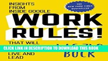 [PDF] Work Rules!: Insights from Inside Google That Will Transform How You Live and Lead Popular