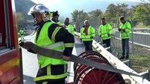 Alpes-de-Hautes-Provence : Un exercice de sécurité civile s'est déroulé au tunnel de la Baume à Sisteron