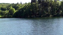 00032 May 2014 On boat at Lake Windermere District the biggest lake in Cumbria unedited video