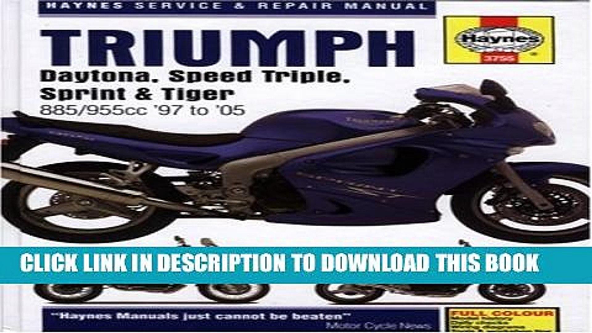 Triumph Daytona User Manual Ebook
