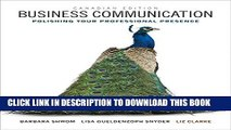 [PDF] Business Communication: Polishing Your Professional Presence, First Canadian Edition Plus