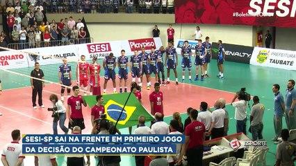 Sesi-SP vence primeiro jogo da decisão do Campeonato Paulista