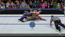 WWE 2K16 John Cena vs Dean Ambrose feat. AJ Styles (Smackdown Live 9/20/2016 Custom Scenario)