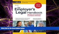 READ book  The Employer s Legal Handbook: Manage Your Employees   Workplace Effectively READ