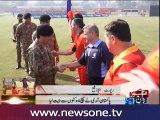 Pakistan army cricket team wins match against Australian army