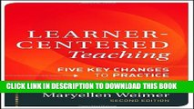[DOWNLOAD]|[BOOK]} PDF Learner-Centered Teaching: Five Key Changes to Practice Collection BEST