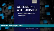 Big Deals  Governing with Judges: Constitutional Politics in Europe  Full Read Most Wanted