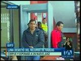 Vinicio Luna desiste del recurso de Hábeas Corpus