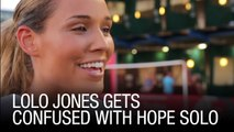 Lolo Jones Gets Confused With Hope Solo