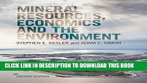[DOWNLOAD]|[BOOK]} PDF Mineral Resources, Economics and the Environment New BEST SELLER