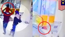 Escalator accident: Little girl falls from dad's shoulders on escalator