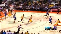 Timofey Mozgov contre Kevin Durant, Nick Young plante à 3 dans la foulée