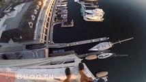 Ce dingue saute d'un immeuble de 40 mètres de haut pour atterrir dans un port.