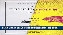 [EBOOK] DOWNLOAD The Psychopath Test: A Journey Through the Madness Industry PDF