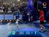 Maradona et Messi joue au foot tennis