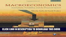 [PDF] Macroeconomics: Institutions, Instability, and the Financial System Popular Online