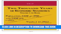 [PDF] Two Thousand Years of Economic Statistics, Years 1 - 2012: Population, GDP at PPP, and GDP