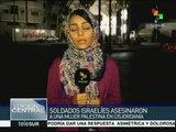 Fuerzas israelíes asesinan a mujer palestina en Cisjordania