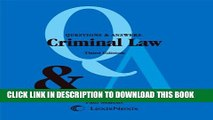 [DOWNLOAD] PDF Questions and Answers: Criminal Law (Questions   Answers) New BEST SELLER