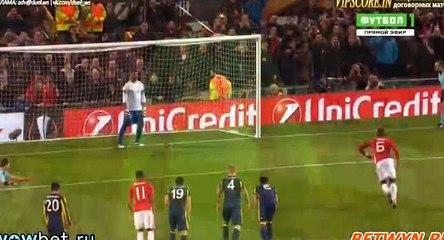 Гол Поль Погба · Манчестер Юнайтед (Манчестер) - Фенербахче (Стамбул) - 1:0