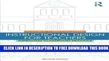 [BOOK] PDF Instructional Design for Teachers: Improving Classroom Practice New BEST SELLER