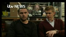 Danny Miller and Ryan Hawley 2016-10-20