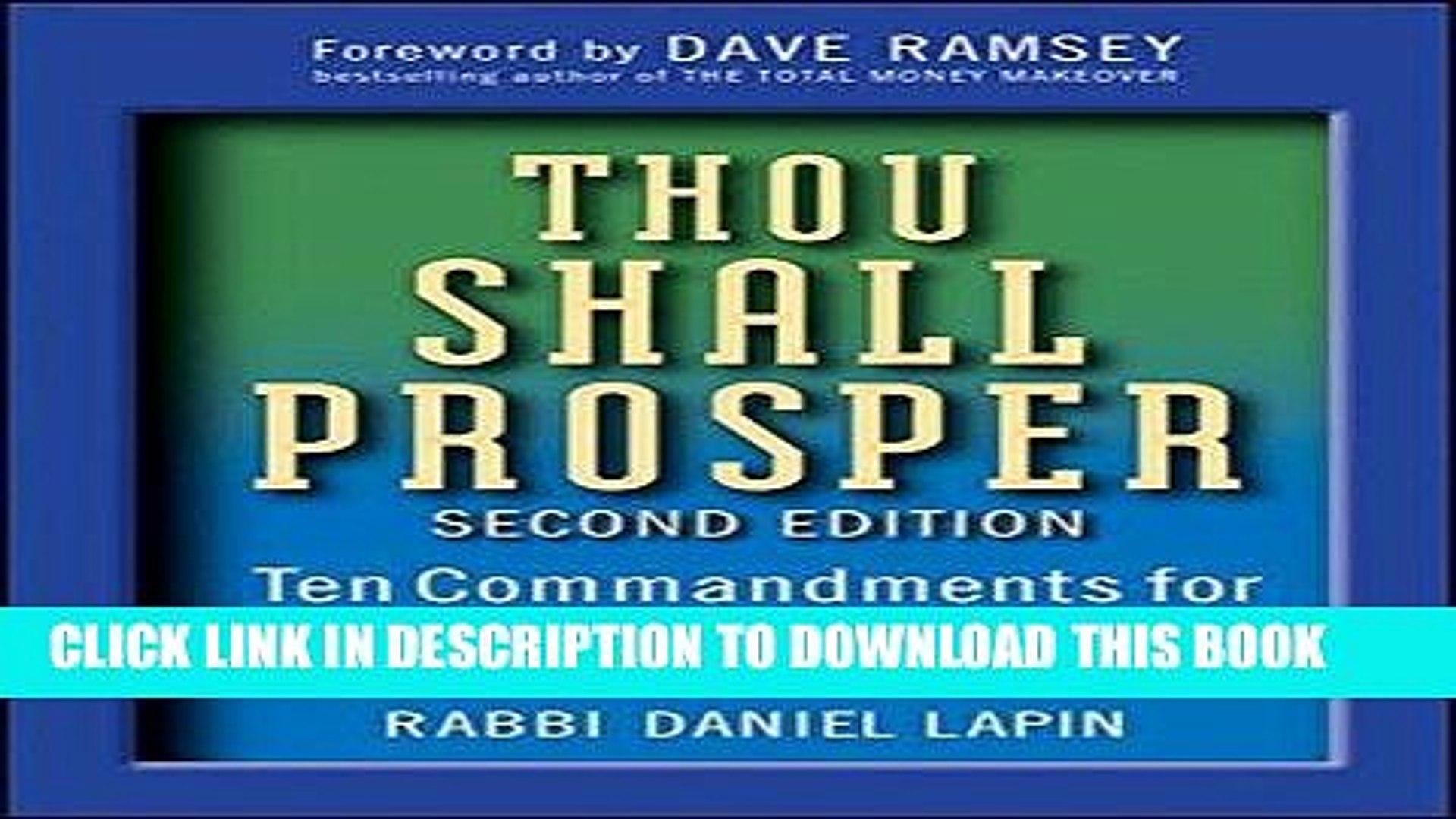 Ebook Download Thou Shall Prosper Ten Commandments For Making