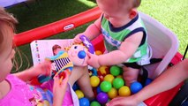 Little Tikes BABY Ballpit Wagon Twins Babies & Ball Pit Surprise Toys by DisneyCarToys