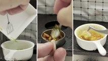 Plats cuisinés reproduits en miniatures pour la pub Singapore Airlines