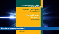 FAVORITE BOOK  Statistics for Lawyers (Statistics for Social and Behavioral Sciences)