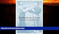 FAVORITE BOOK  Authors in Court: Scenes from the Theater of Copyright