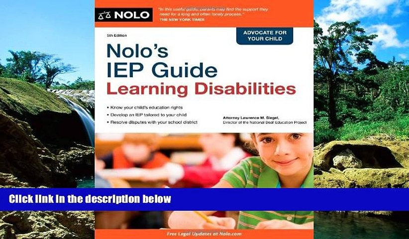 READ FULL  Nolo s IEP Guide: Learning Disabilities  READ Ebook Full Ebook